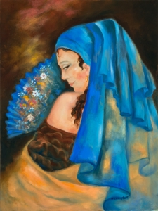 The Woman with the Blue Fan